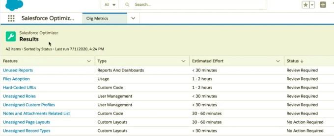 Salesforce Optimizer