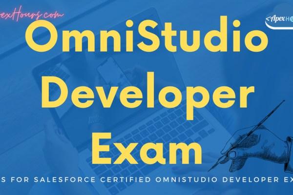 Salesforce Certified OmniStudio Developer exam