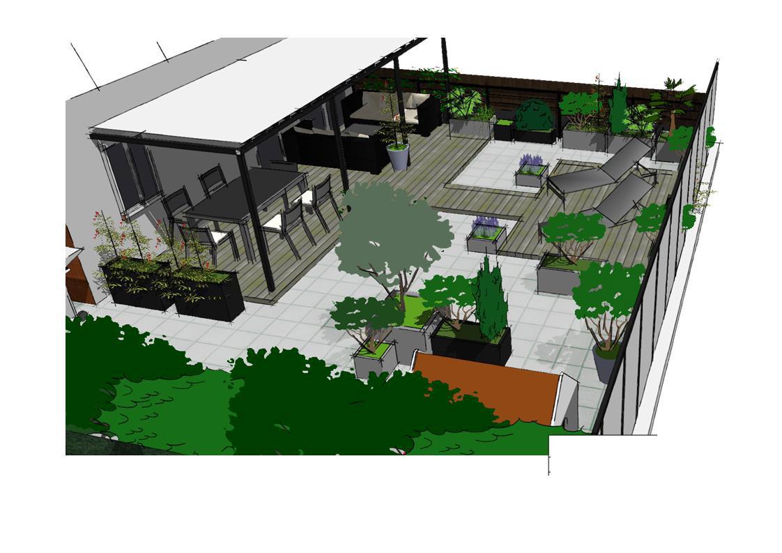 toits terrasses et balcons paysagiste