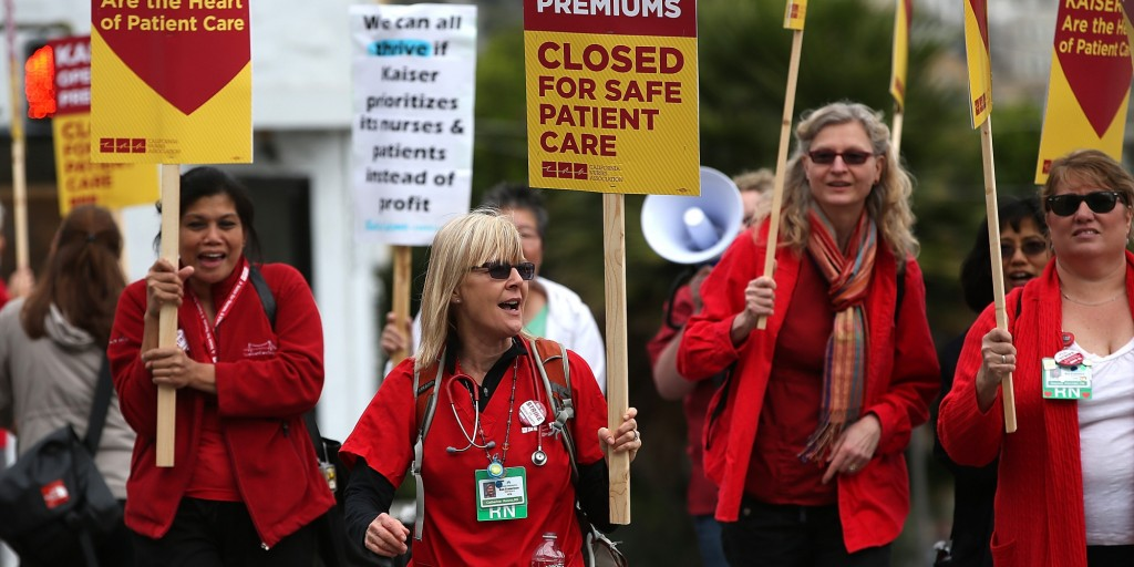 California Nurses Strike To Protest Patient Care Conditions, Ebola Preparation