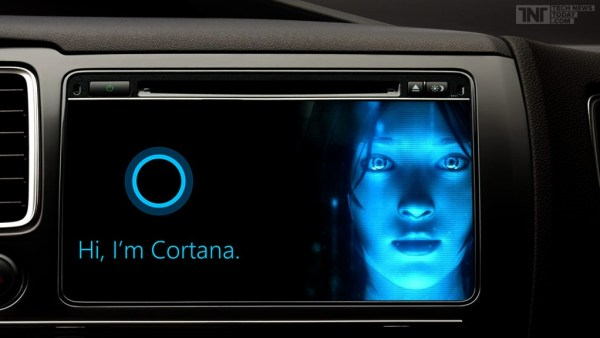 """Microsoft's Cortana assistant on cars"""
