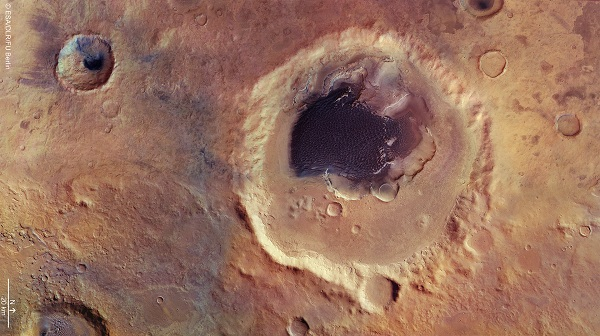 A crater from Mars