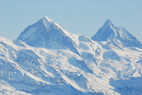 Snowy crests of the Les Diablerets Mountains