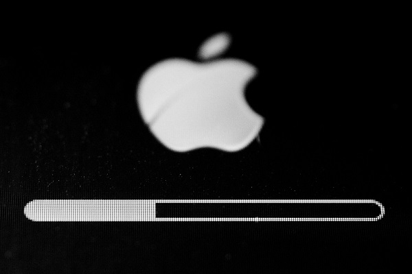 Apple device performing an update