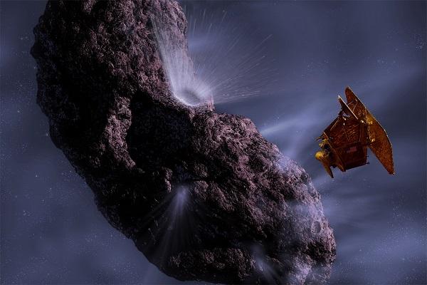 Asteroid and NASA probe