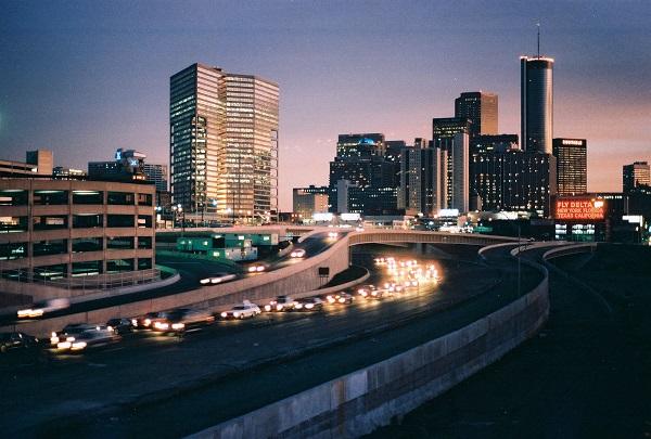 Atlanta City at twilight