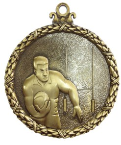 rugby antique medal