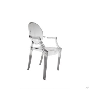 louis ghost arm chair clear