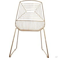 gold wire dining chair