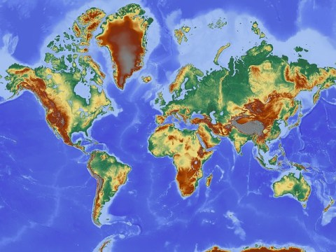The map of the world showing the coordinate systems integrated in the land survey software glos Survey Wizard