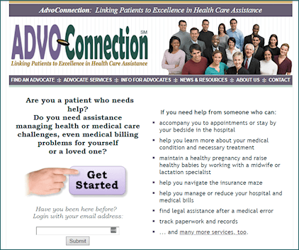 AdvoConnection Directory - original homepage