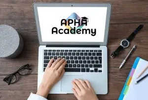 image - APHA Academy student at computer