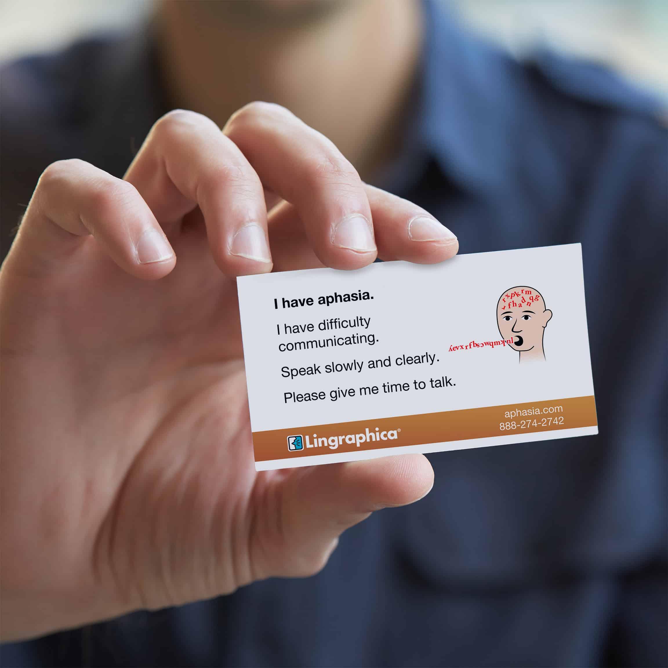 Printable Aphasia Id Card