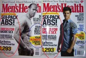 mens health cover duplicated