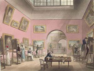 British Institution, Pall Mall, 1808 (1808) Thomas Rowlandson (1756-1827) Wikimedia Commons