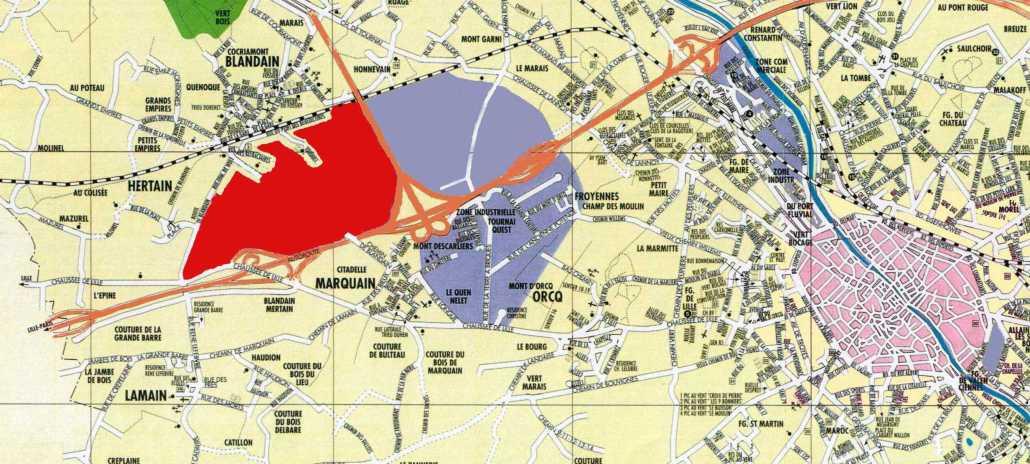 Plan prioritaire : Avant-projet amendé : 180 ha