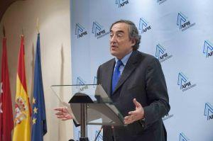 Juan Rosell agradece la concesión del premio Tintero.