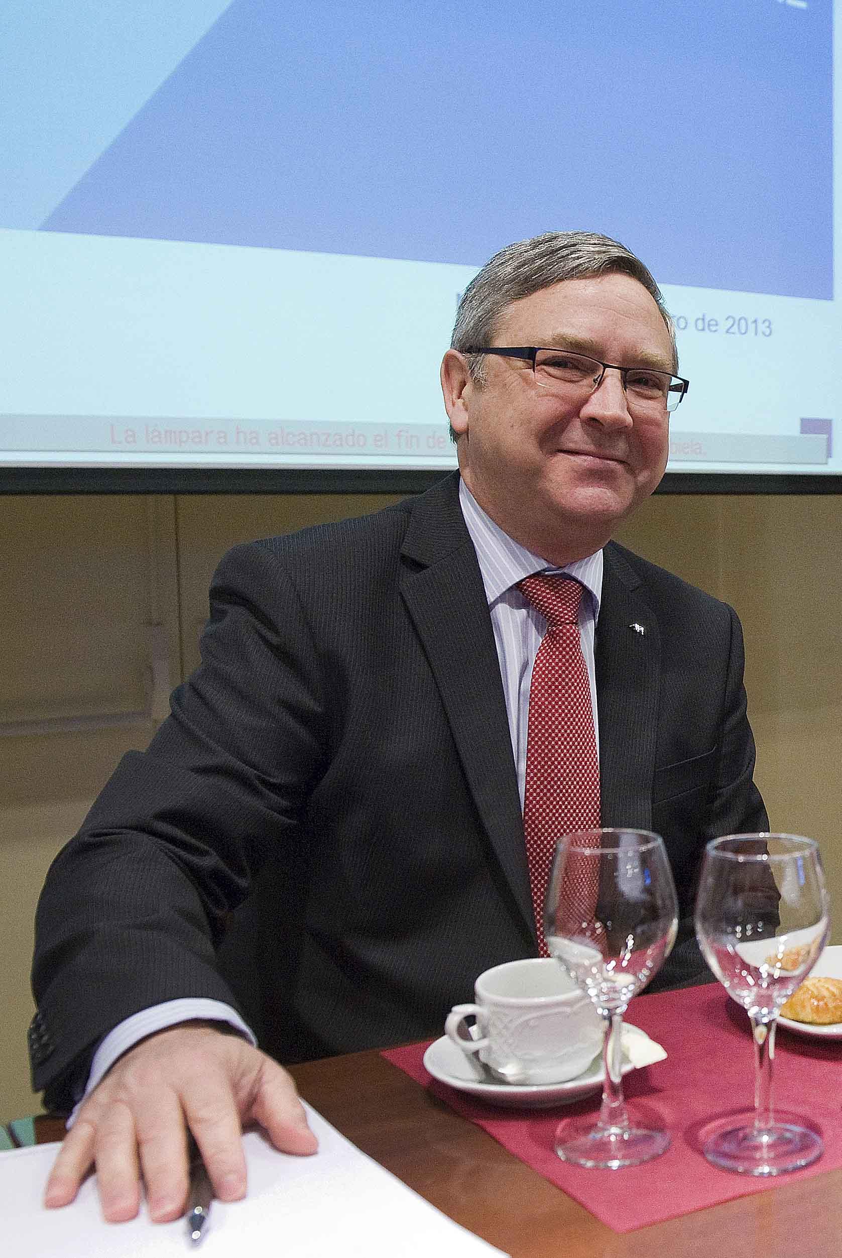 Jean-Paul Rignault, Consejero Delegado de AXA España, durante el desayuno de prensa organizado por APIE.