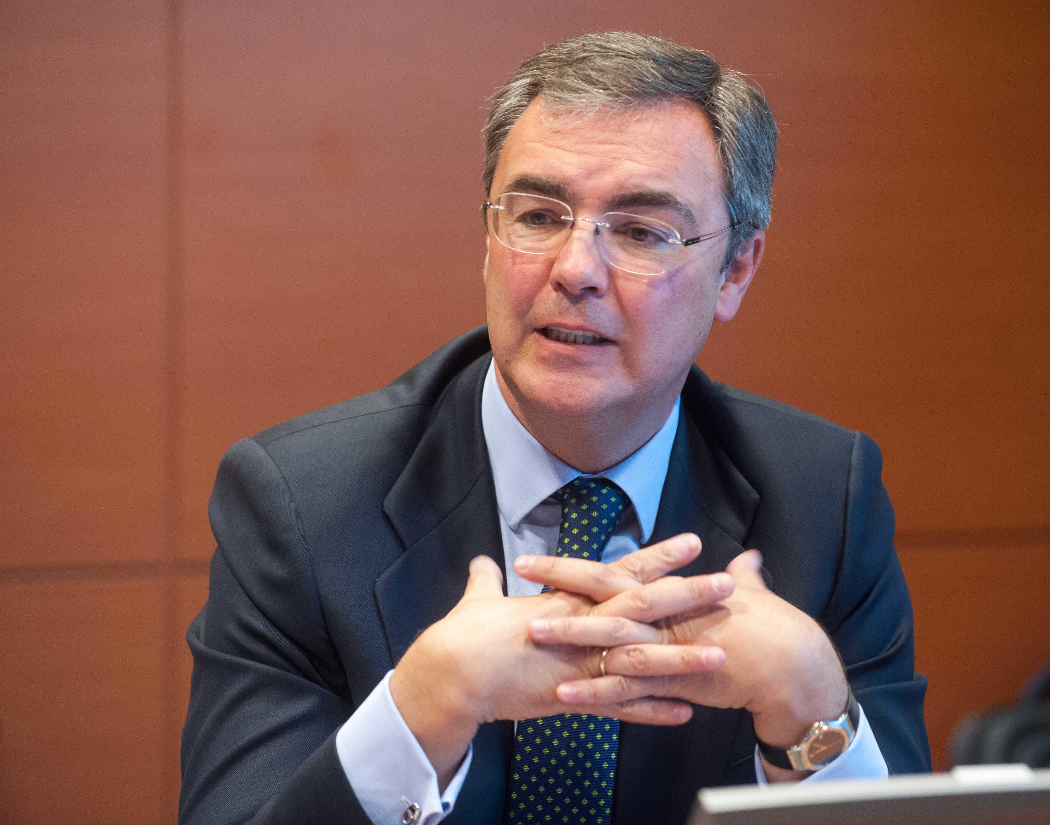José Sevilla, Consejero Delegado de Bankia, durante su intervención en la Quinta Jornada del Curso de Economía organizado por APIE.