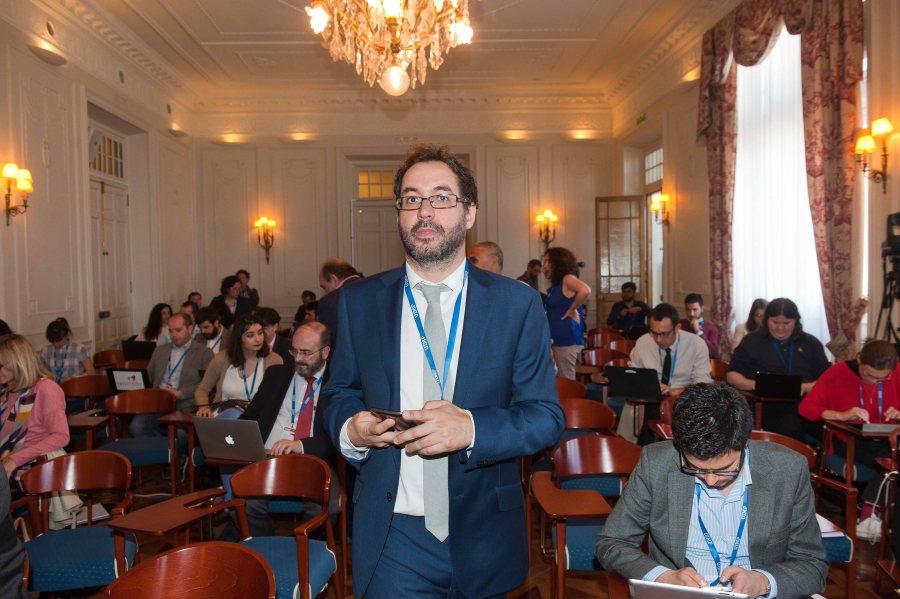 Jorge Barrero, Director de Cotec, durante su intervención en el Curso de Verano organizado por APIE en la UIMP.