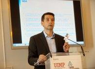 Rafael Domenech, Economista Jefe de Economías Desarrolladas de BBVA Research, durante su intervención en el Curso de Verano organizado por la APIE en la UIMP.