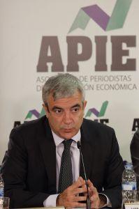 Luis Garicano, responsable económico de Ciudadanos, en el debate sobre política económica organizado por la Asociación  de Periodistas de Información Económica (APIE).