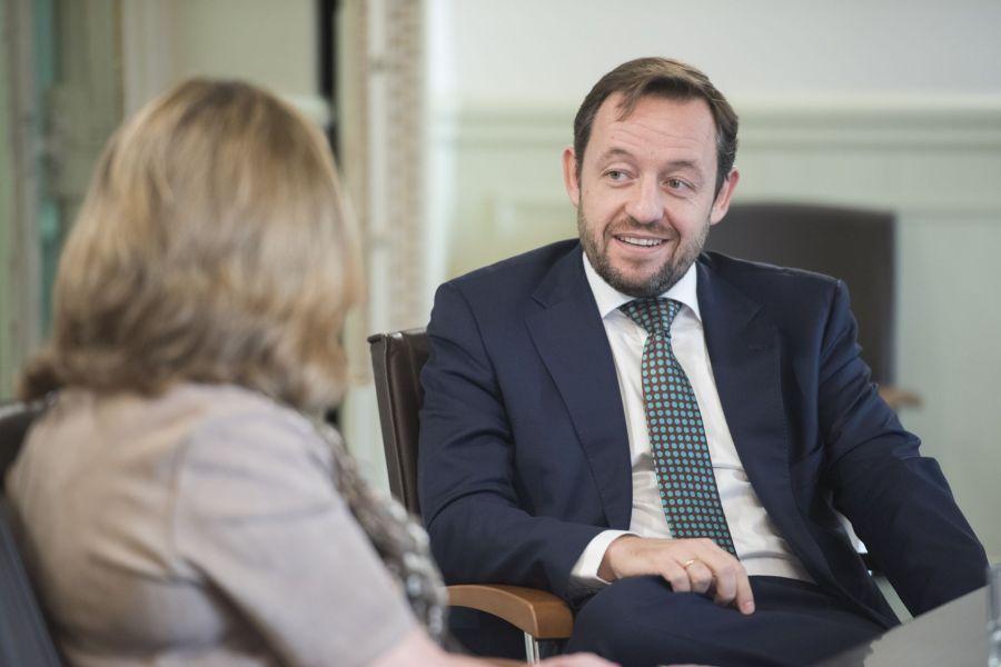 Un momento del encuentro con Francisco de la Torre en el Colegio de Economistas de Madrid.