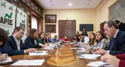 Un momento de la presentación del XI Informe Sobre Juntas Generales de las Empresas del Ibex, celebrada en la Biblioteca de la Asociación de la Prensa de Madrid.