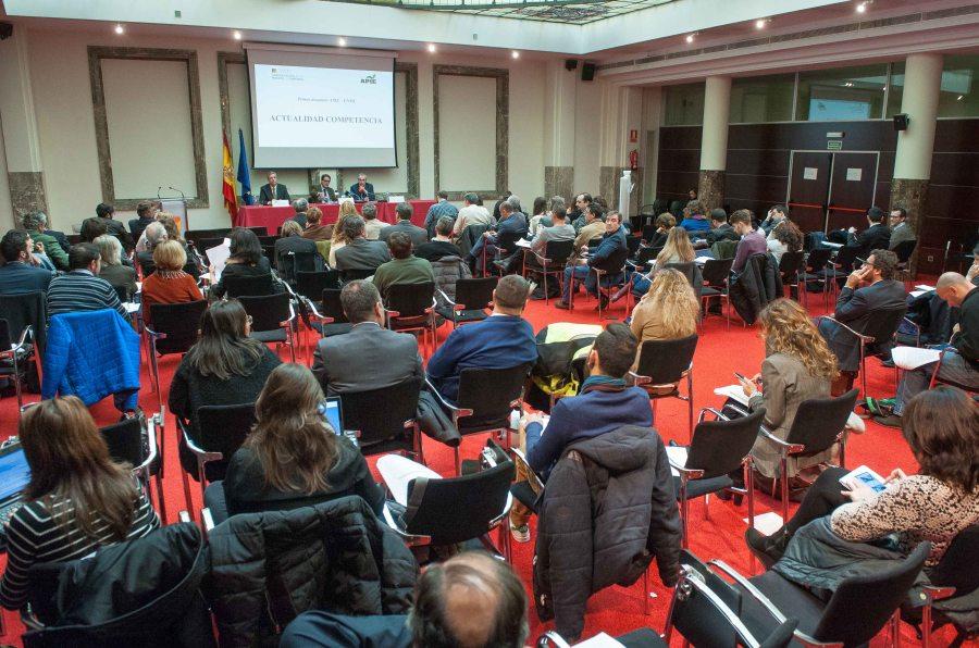 Un momento de la presentación ante la prensa del Balance 2015 de la Comisión Nacional de los Mercados y la Competencia (CNMC) en un acto organizado conjuntamente con APIE.