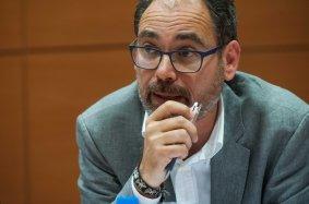 Alberto Montero (Podemos), en el debate sobre la reforma laboral durante la Segunda Jornada del Curso de Economía para Periodistas Organizado por APIE con la colaboración del Banco Popular.