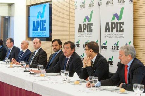 Victor Audera, director general de Industria y de la PYME, en el almuerzo de prensa con el que se cerró la cuarta jornada del XXIX Curso de Economía para Periodistas organizado por APIE con la colaboración del Banco Popular.