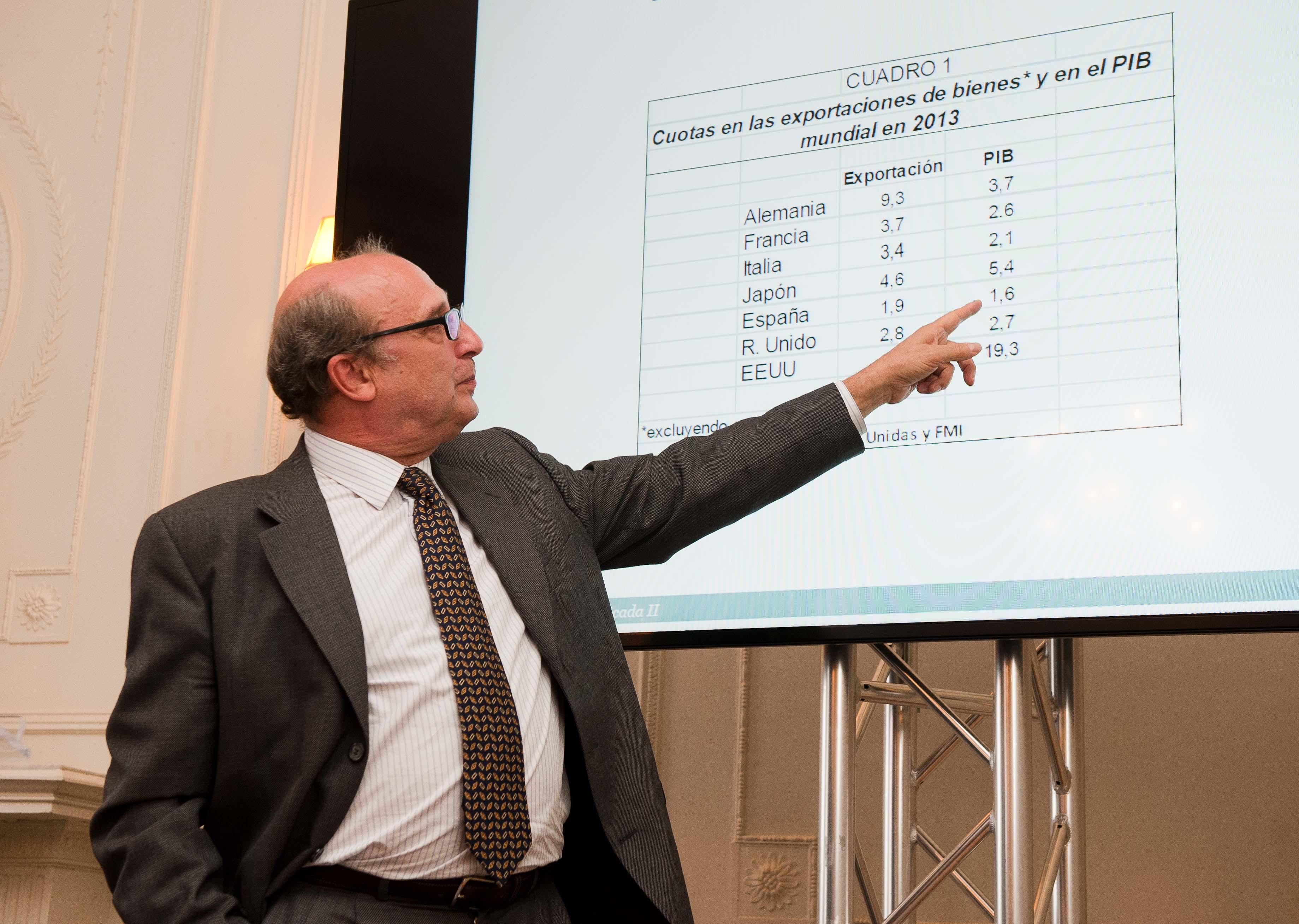 Rafael Myro, Catedrático de Economía Aplicada, durante su intervención en el curso de verano organizado por la APIE en la Universidad Menéndez Pelayo de Santander.