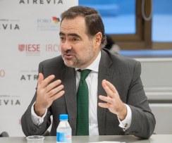 Francisco Javier Zapata, presidente de Emisores Españoles, durante la presentación del XII Informe Juntas Generales de Accionistas 2016.