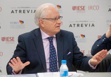 Jose Ramón Pin, Copresidente del Foro de Buen Gobierno y Accionariado, durante la presentación del XII Informe Juntas Generales de Accionistas 2016.