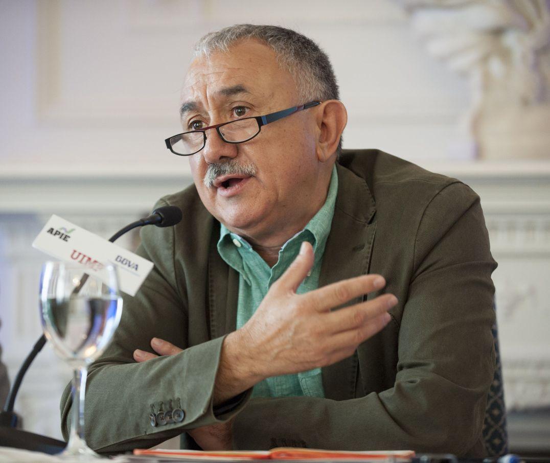 Josep María Álvarez, Secretario General de UGT, durante su intervención en el curso de economía organizado por APIE en la Universidad Internacional Menéndez Pelayo de Santander.