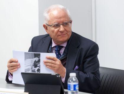 José Ramón Pin, vicepresidente del Foro de Buen Gobierno, durante la rueda de prensa de presentación del XIII Informe de Juntas Generales de empresas del Ibex-35.