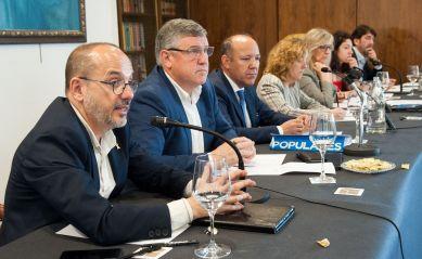 Carles Campuzano (PDECat), durante su participación en el debate sobre pensiones con el que comenzó el XXXI Curso de Economía organizado por la APIE.