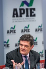 Jaime Echegoyen, presidente de Sareb, durante el almuerzo de prensa con que concluyó la cuarta sesión del XXXI Curso de Economía organizado por APIE.