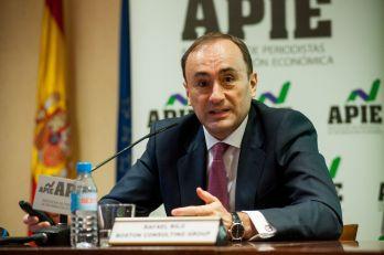 Rafael Rilo, Director General de Boston Consulting Group España, durante la presentación del informe Transformación del Modelo Productivo Español.