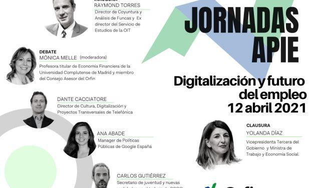 12 de abril, primera Jornada de Formación Económica: Digitalización y Futuro del Empleo