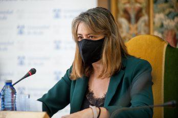 Eva Senra Díaz, Vicerrectora de Economía, Emprendimiento y Empleabilidad de la Universidad de Alcalá de Henares, en la apertura de las Jornadas APIE 2021.