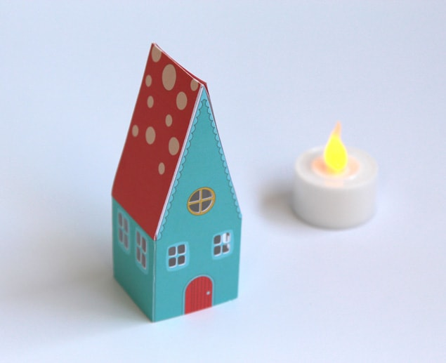 apieceofrainbow paper houses 4 - DIY: Paper House Luminaries