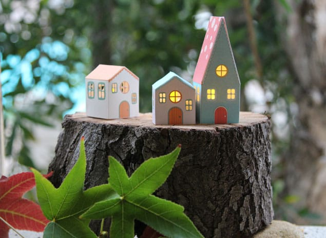 apieceofrainbow paper houses 8 - DIY: Paper House Luminaries