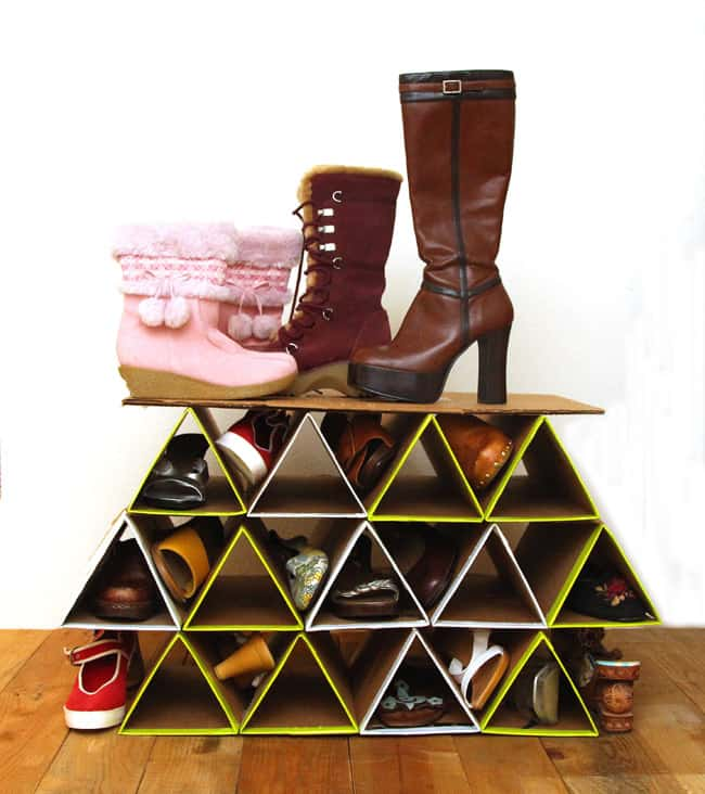 super space saving diy shoe rack for