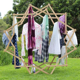 diy star shaped clothes drying rack a