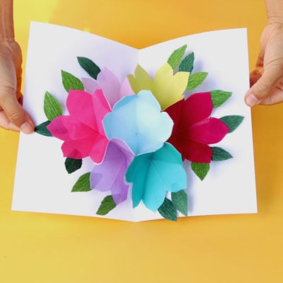 Free Printable Happy Birthday Card With Pop Up Bouquet A Piece Of Rainbow