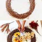 Beautiful Diy Fall Wreath In 10 Minutes So Easy A Piece Of Rainbow