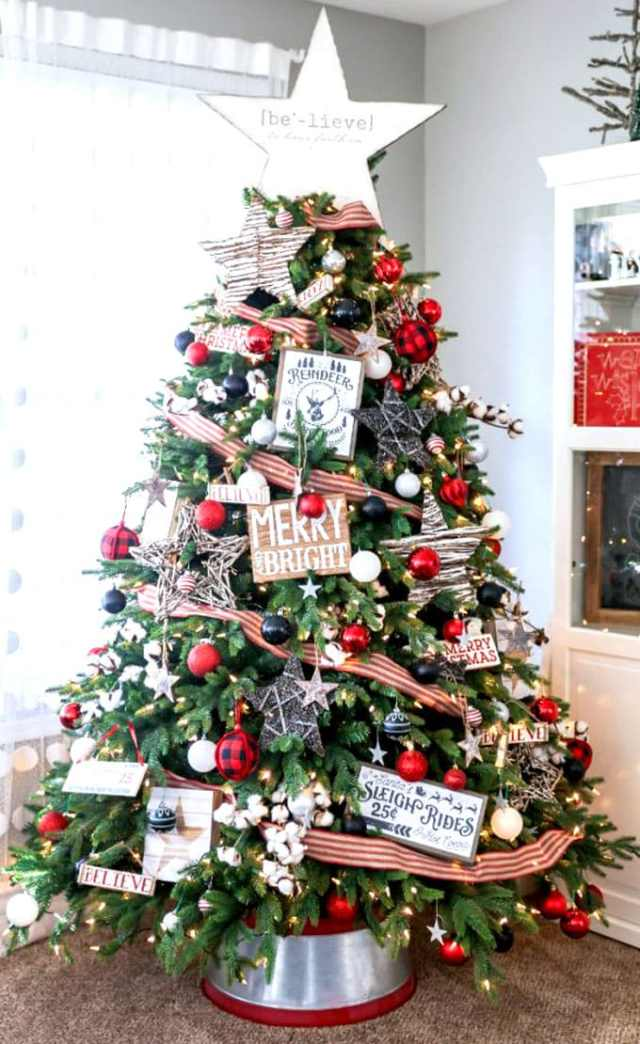 christmas tree decorating ideas elegant decorations how to decorate white red ribbon tutorials apieceofrainbow 16