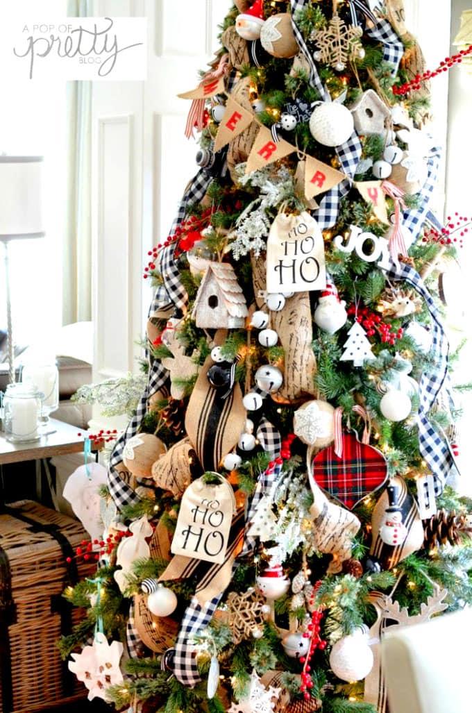 christmas tree decorating ideas elegant decorations how to decorate white red ribbon tutorials apieceofrainbow 17 - 42 Gorgeous Christmas Tree Decorating Ideas { & Best Tutorials!}