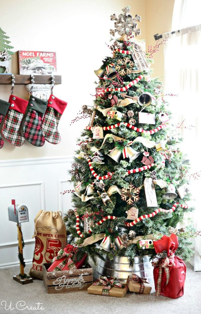 christmas tree decorating ideas elegant decorations how to decorate white red ribbon tutorials apieceofrainbow 18 - 42 Gorgeous Christmas Tree Decorating Ideas { & Best Tutorials!}